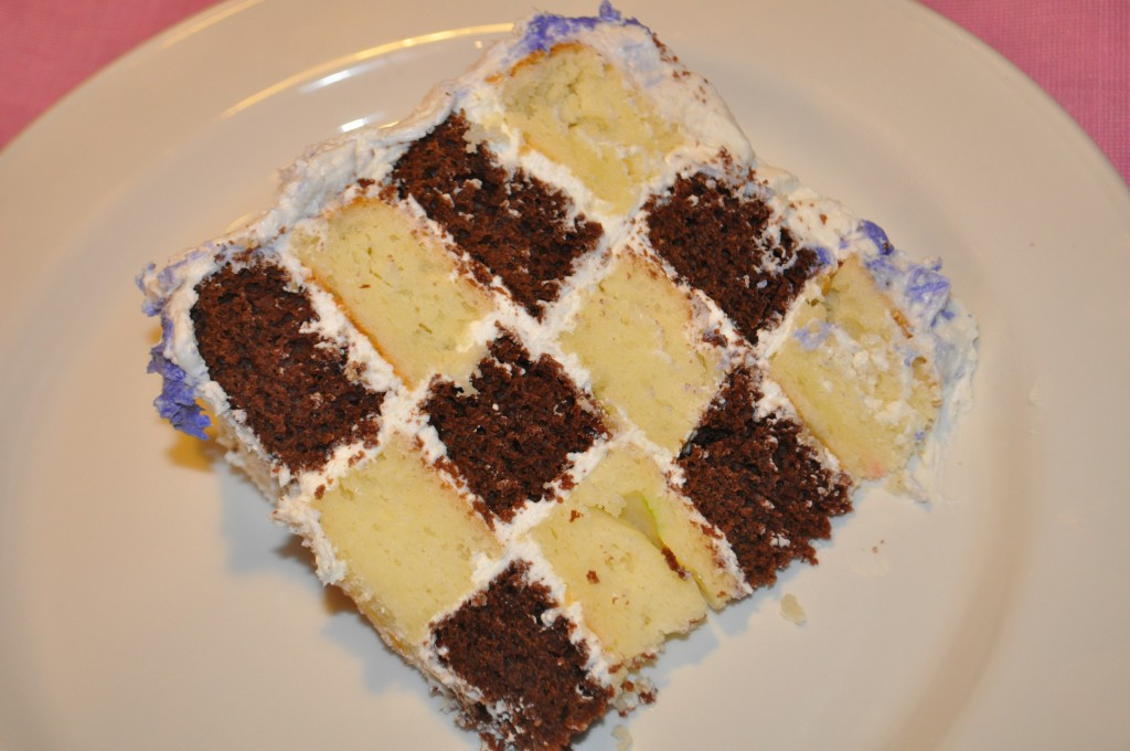 How To Make A Checkerboard Sheet Cake