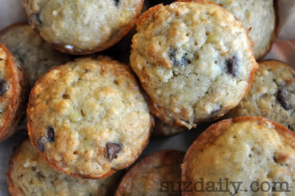 Banana Chocolate Chip Muffins | Suz Daily