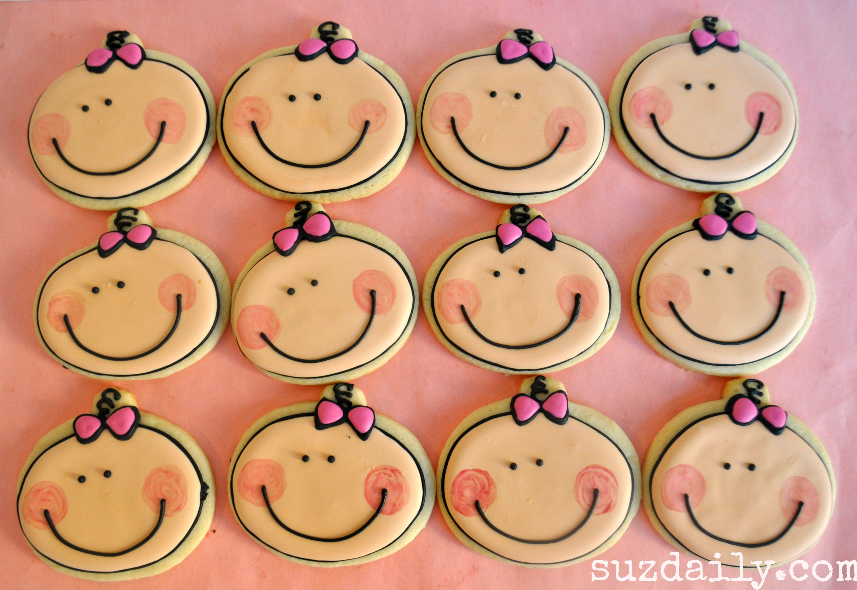 Cute Baby Girl Cookies For A Baby Shower