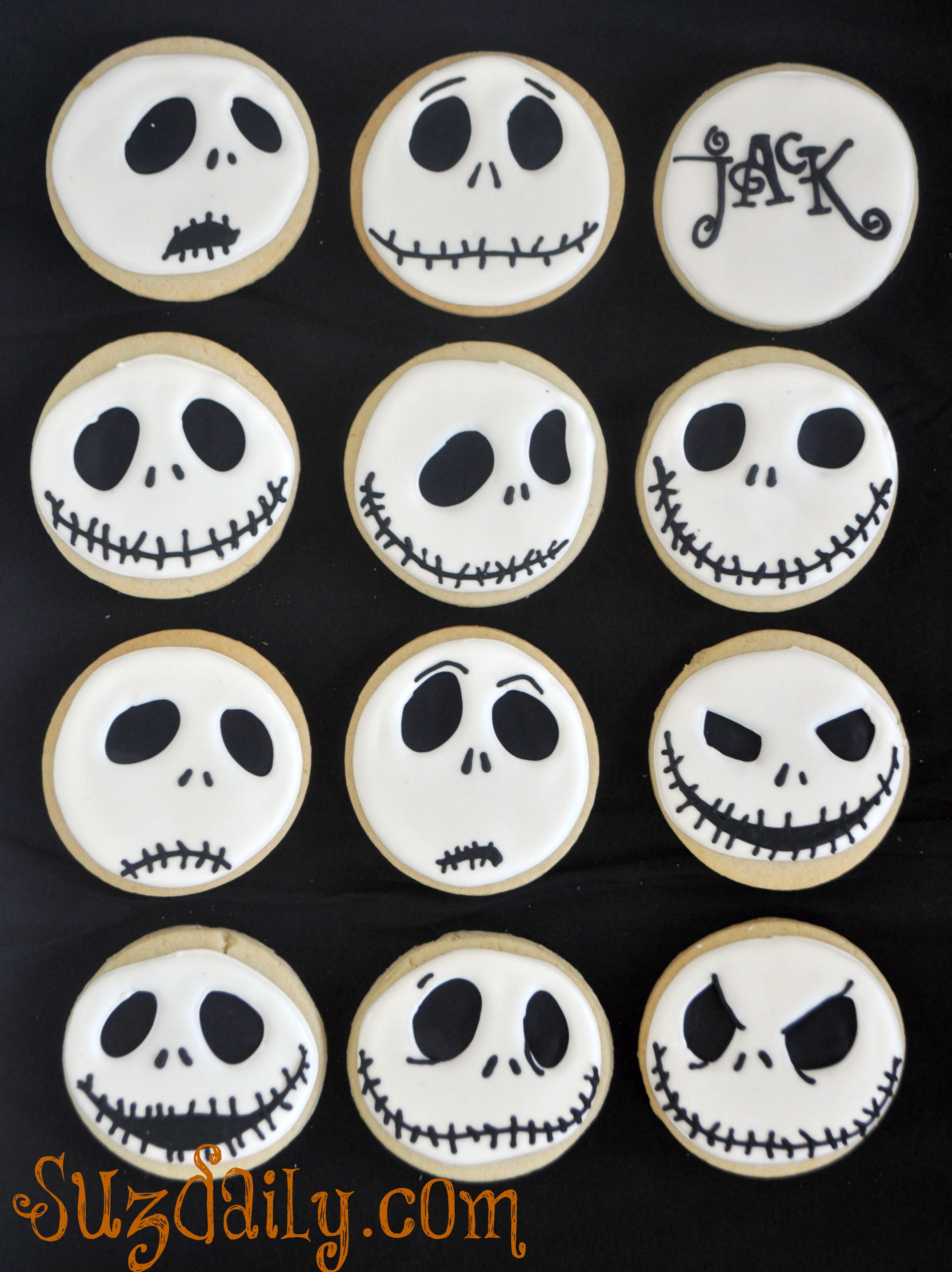 How To Make A Jack Skellington Cookie