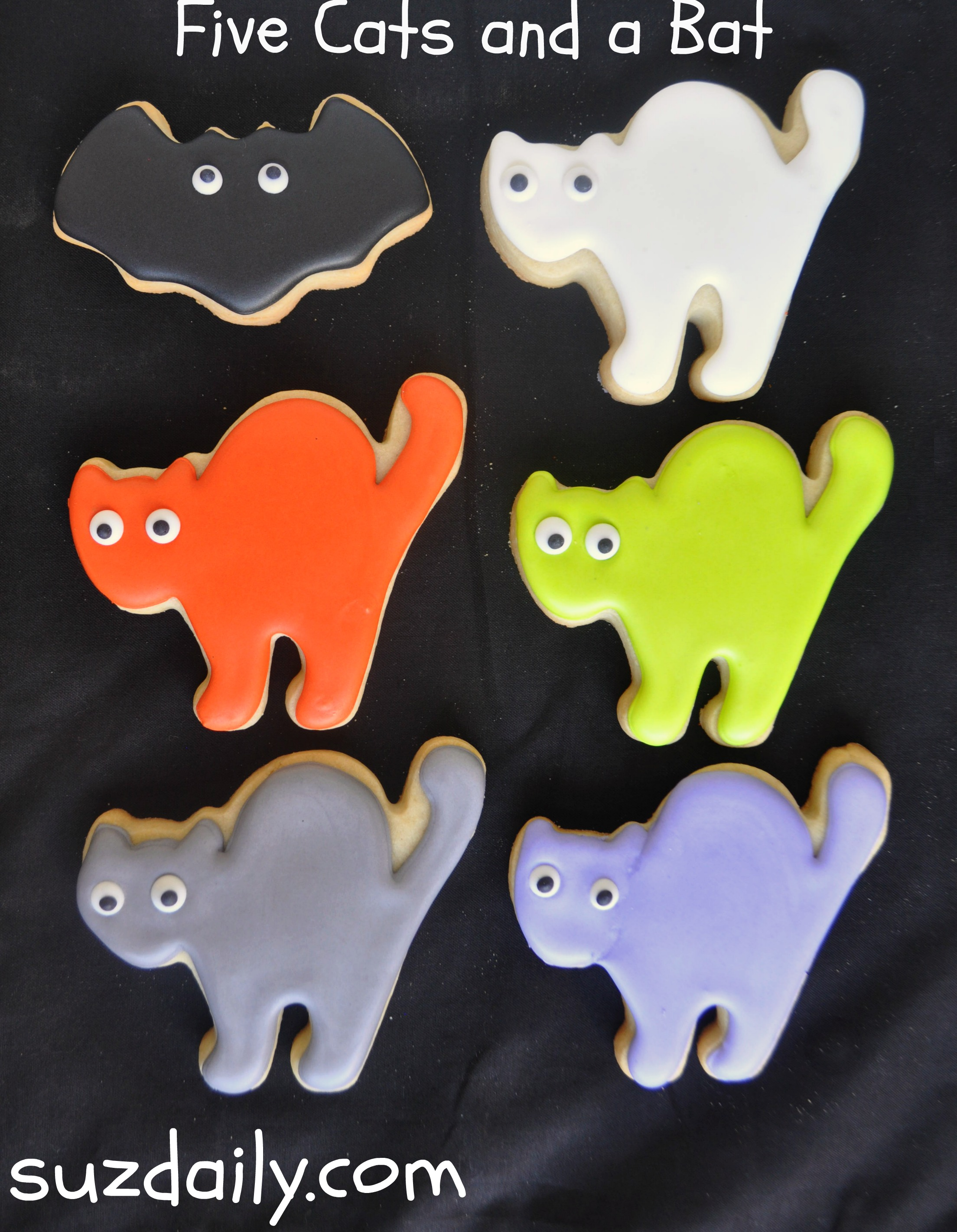 Cute Cat Cookies for Halloween