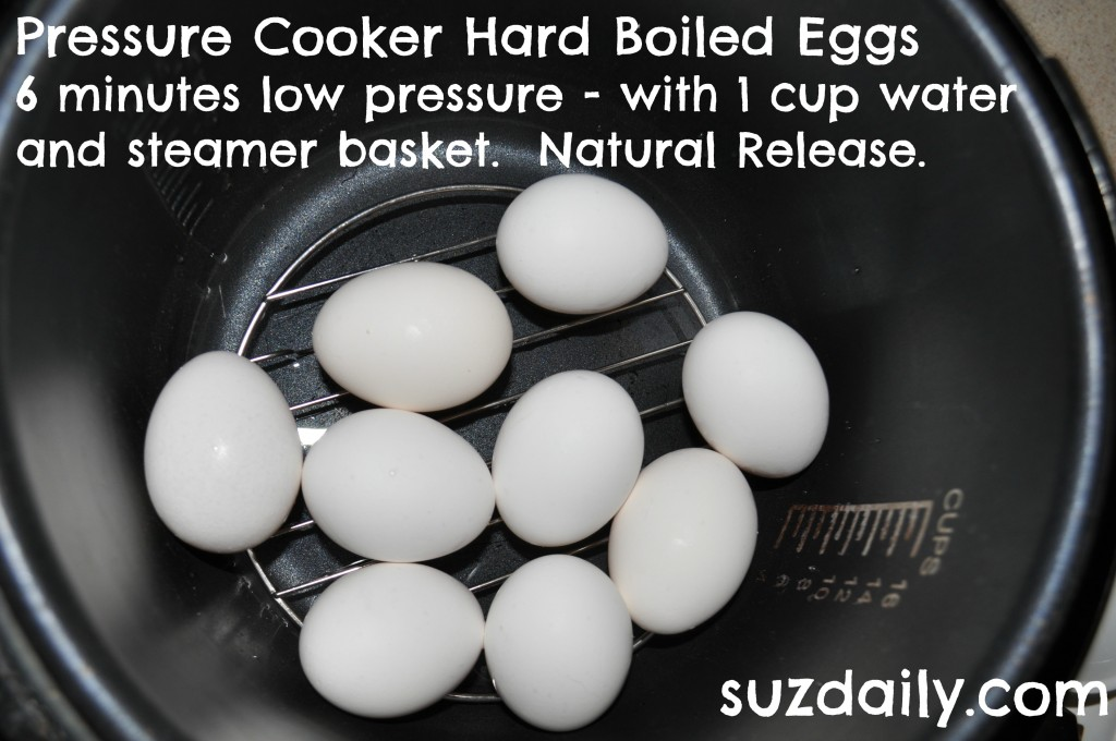 pressure cooker hard boiled eggs 2