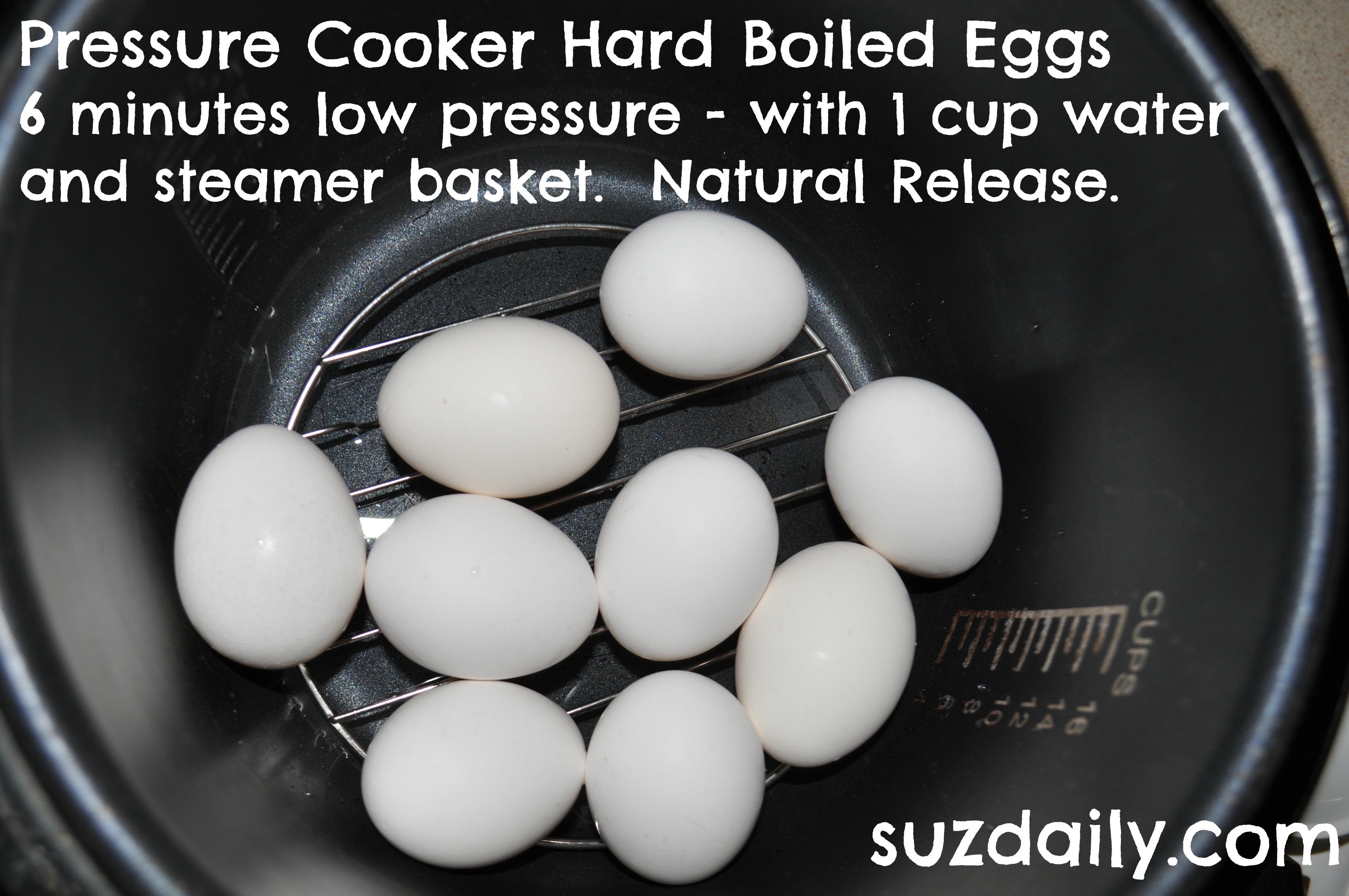 How to Make Hard Boiled Eggs in the Pressure Cooker