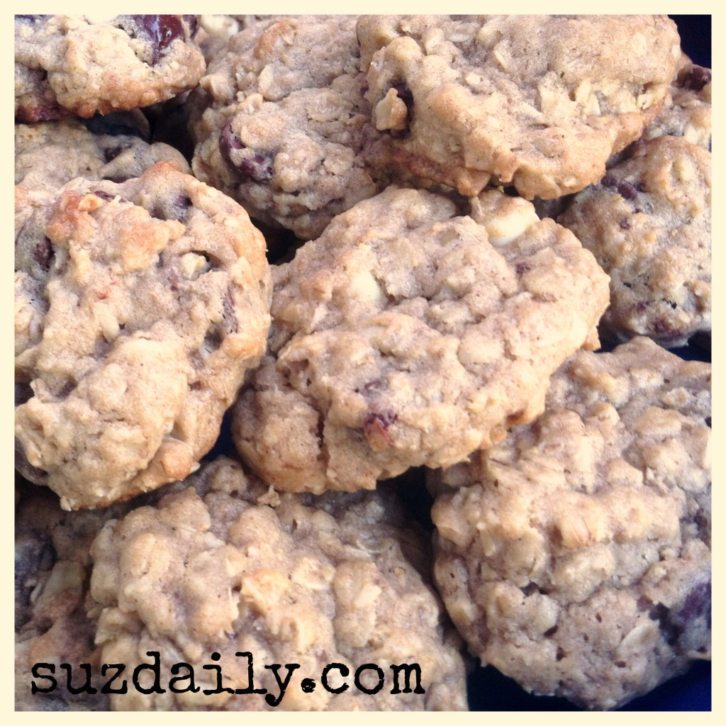 triple chocolate oatmeal cookies