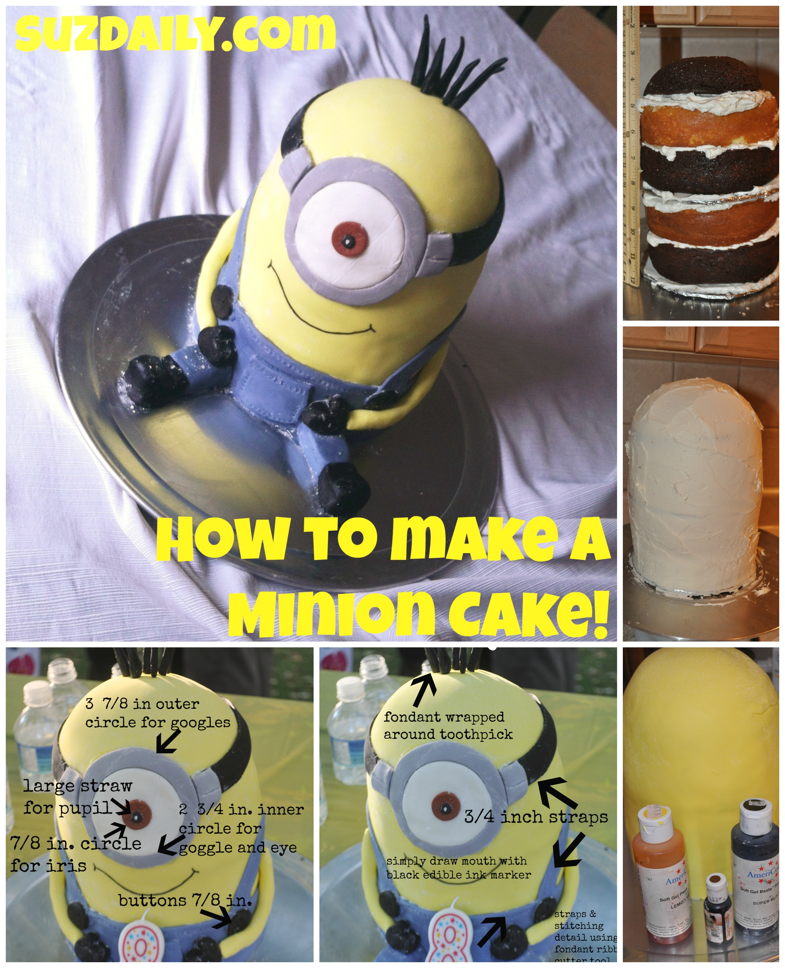 How to make a minion cake suz daily howtomakeaminioncake14 baditri Image collections