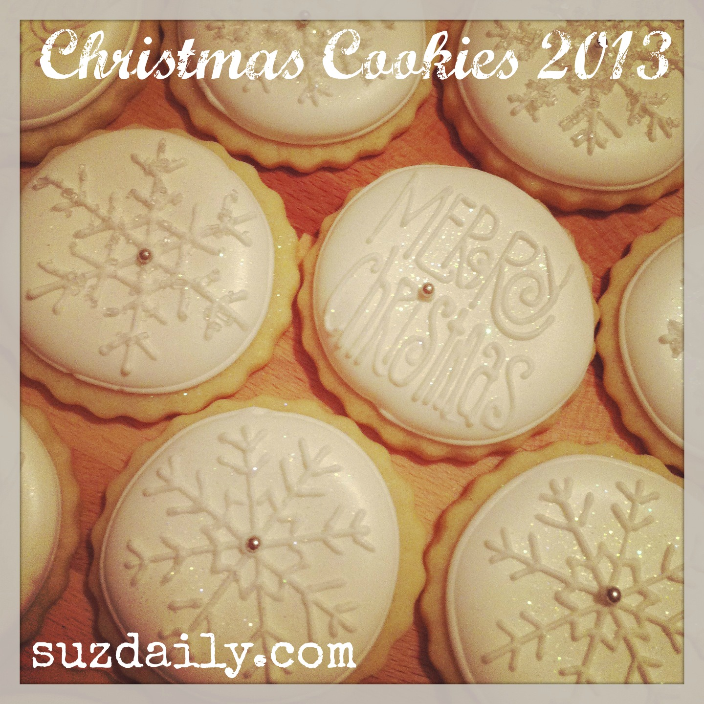 White on White Christmas Cookies