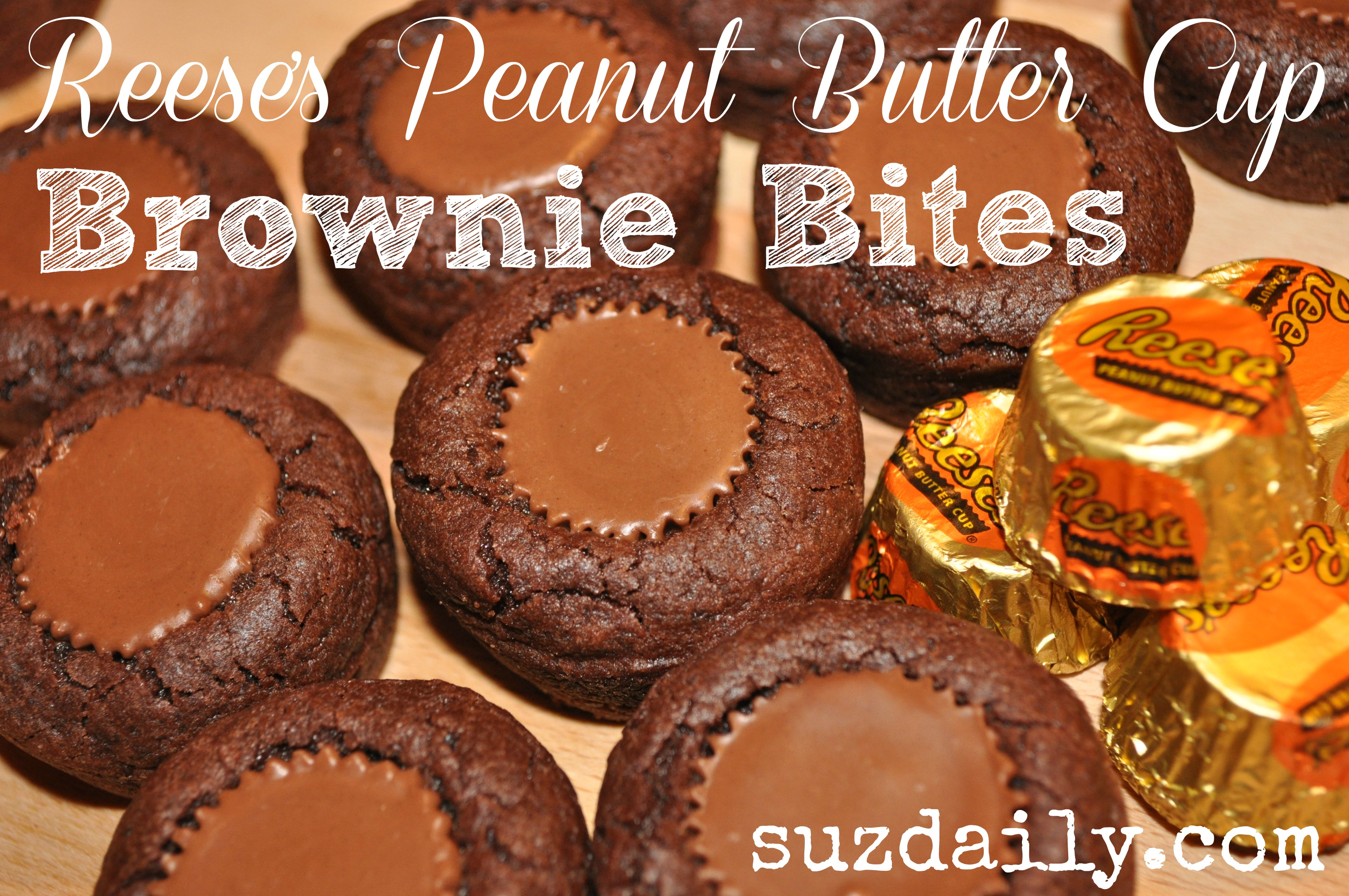 Reese's Peanut Butter Cup Brownie Bites
