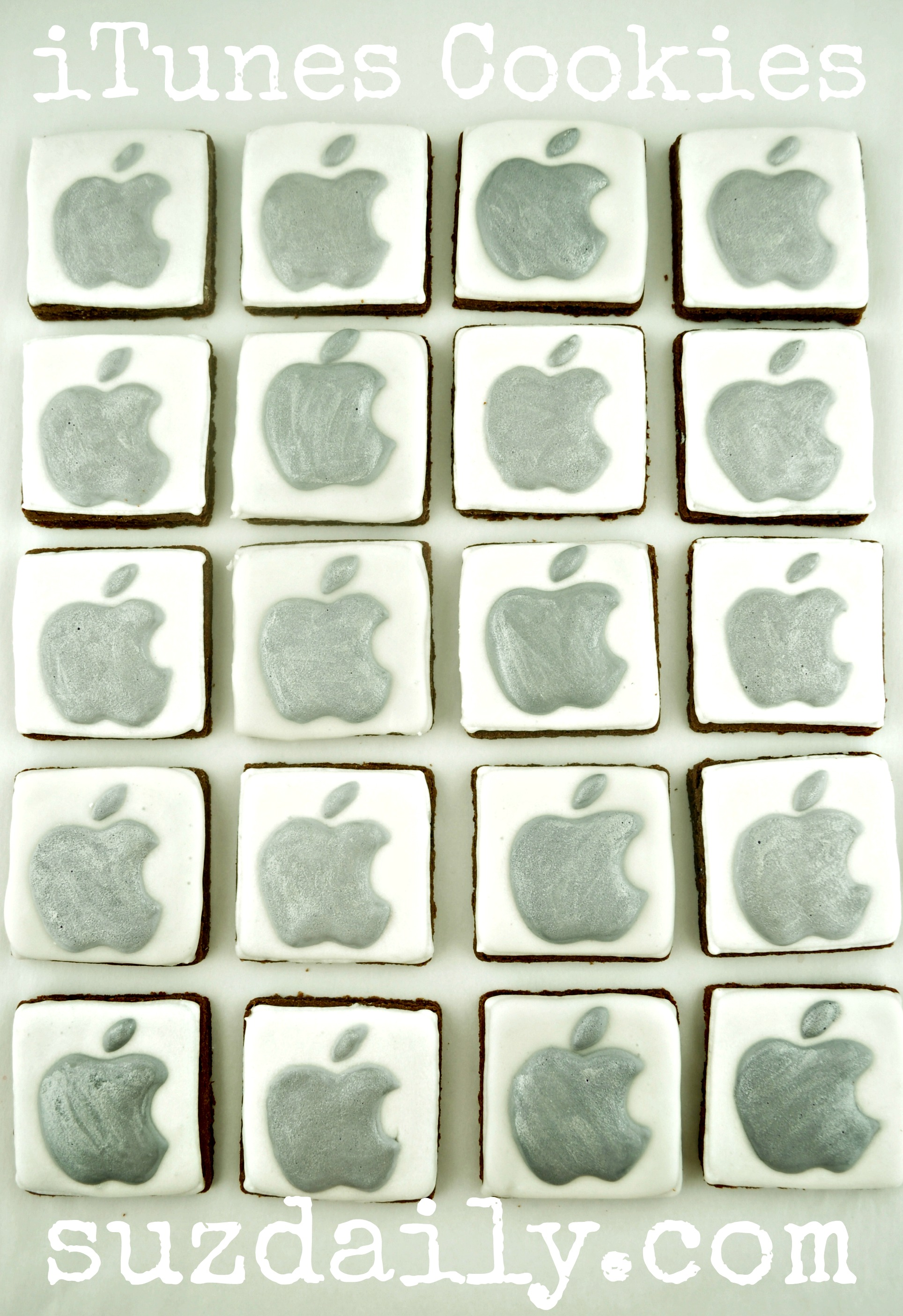 Apple iTunes Cookies – Teacher Appreciation Day Cookies
