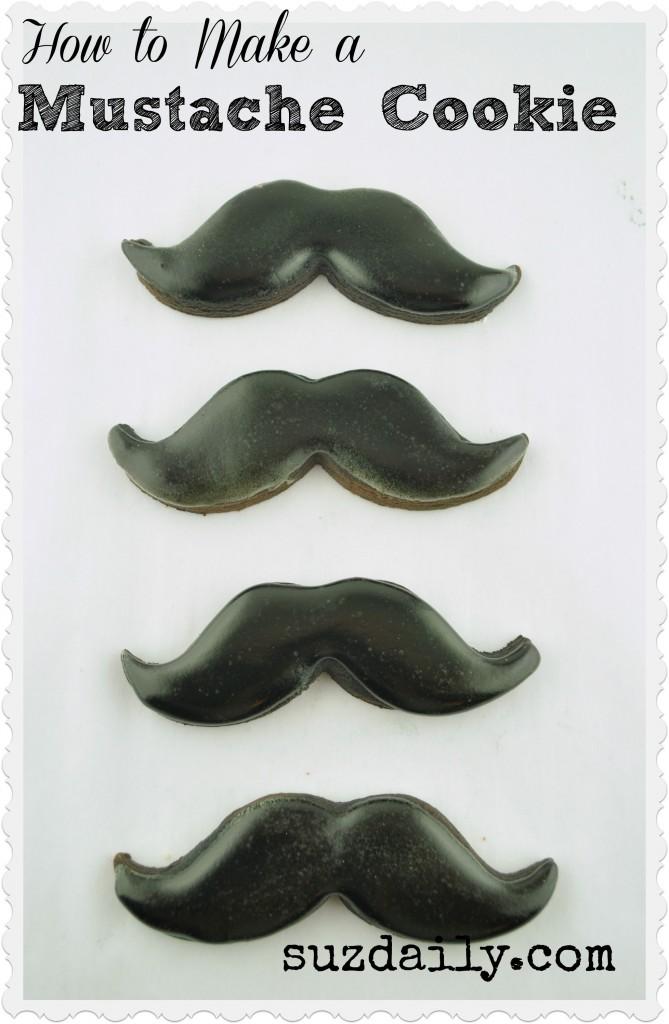 mustache cookies 1