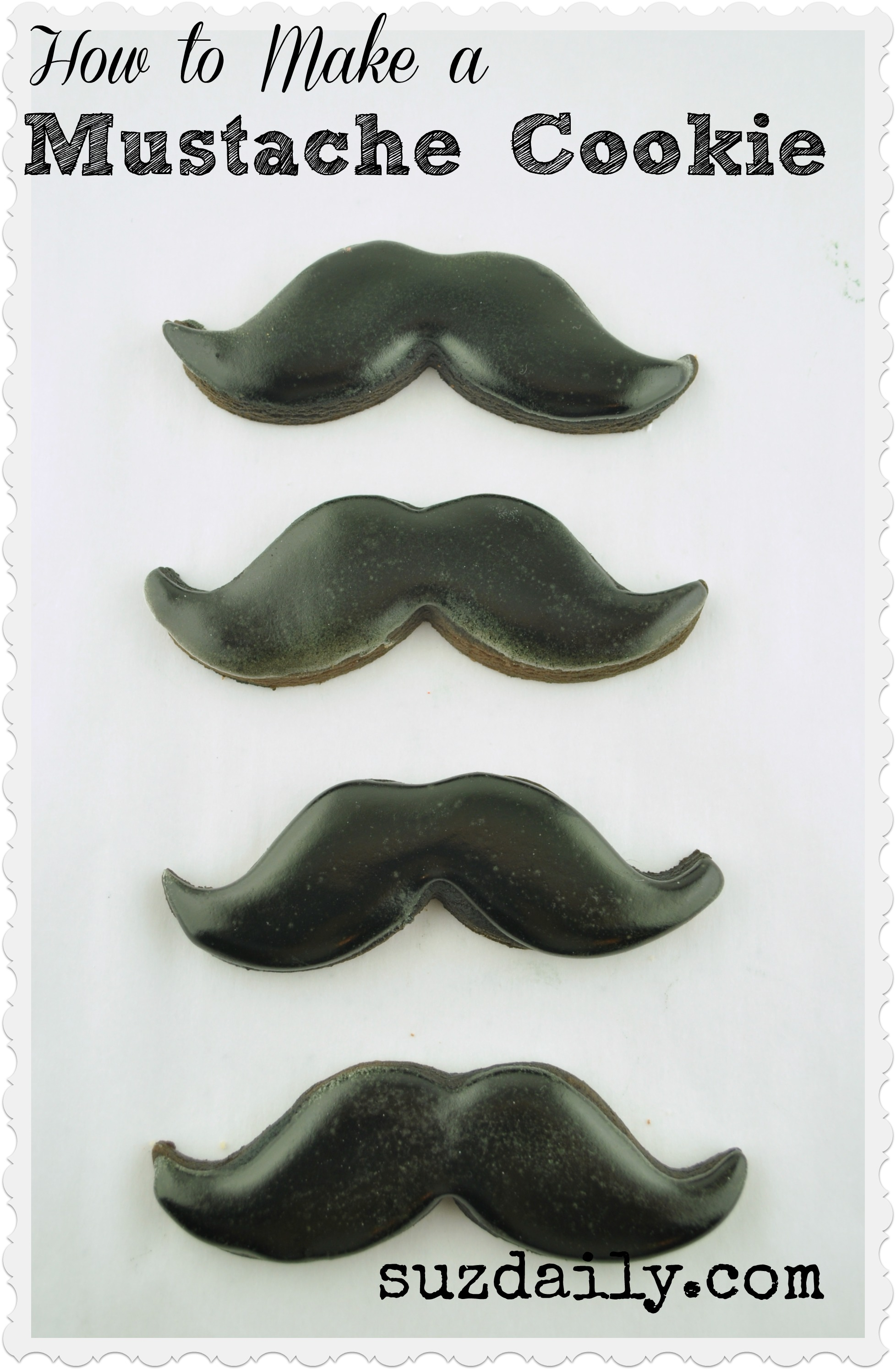 How to make Mustache Cookies