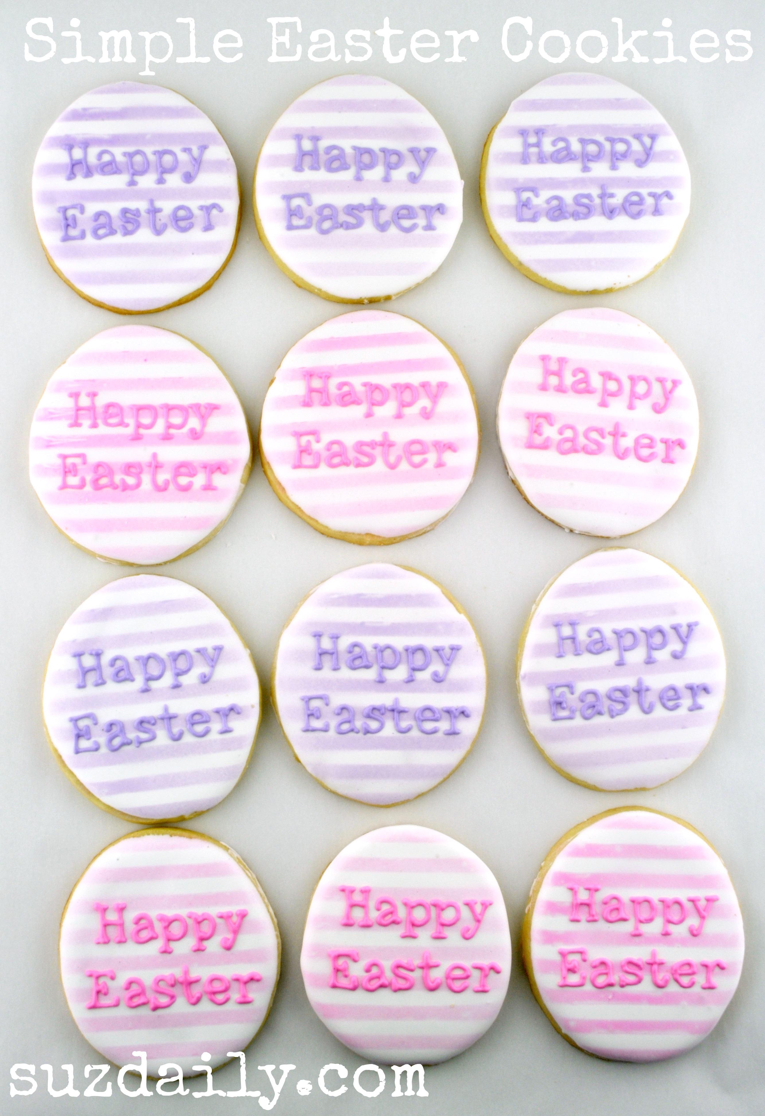 Simple Easter Egg Cookies