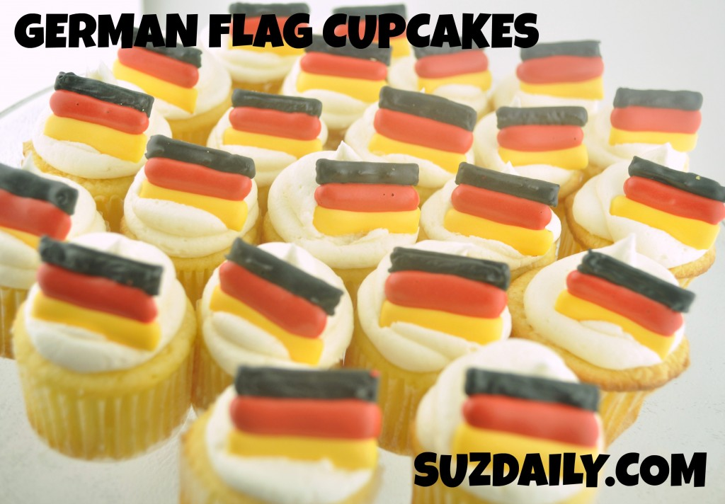 GERMAN FLAG CUPCAKES