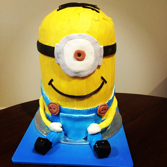 minion cake by Katie
