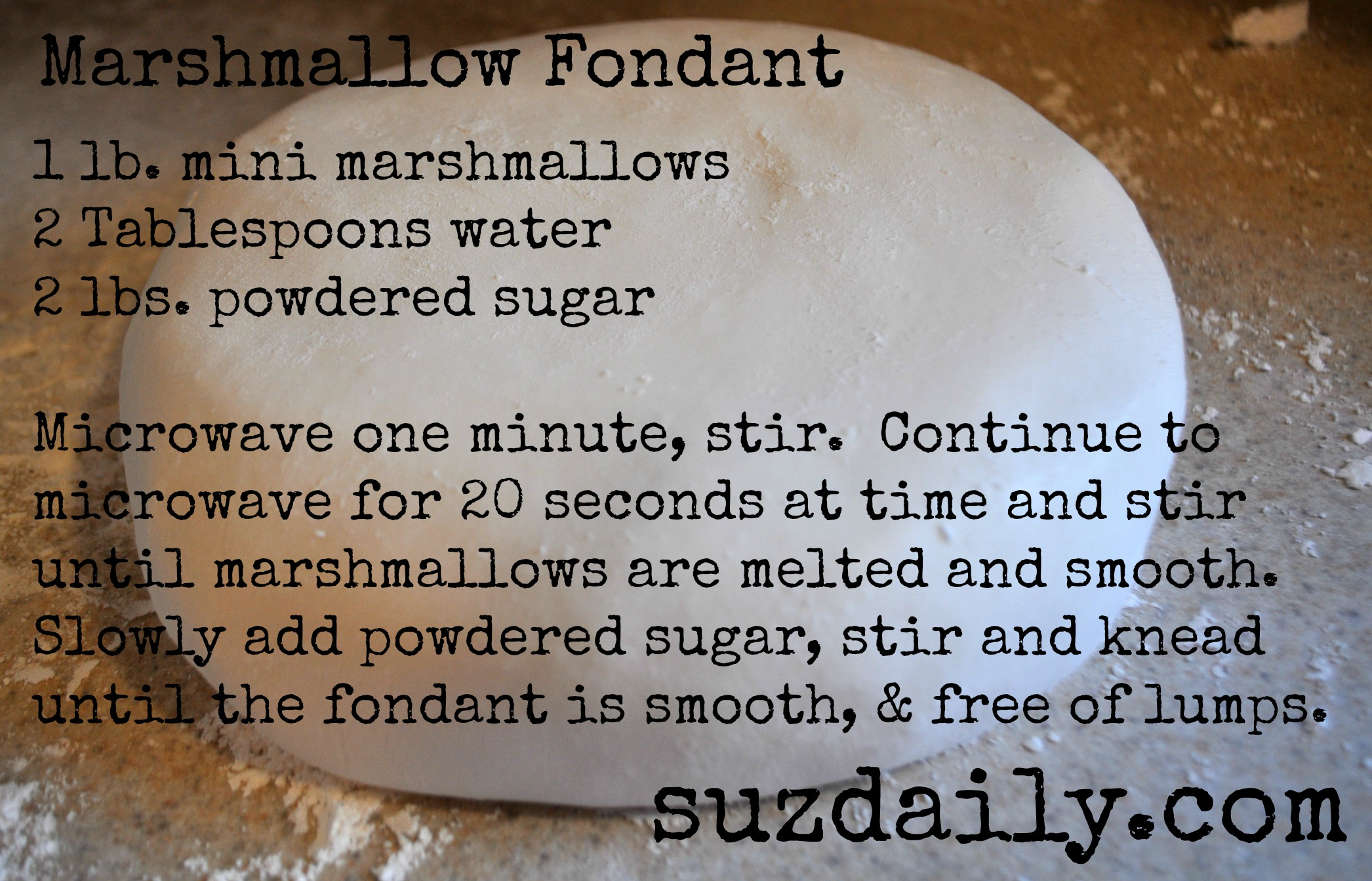 How to Make Marshmallow Fondant – Suz Daily