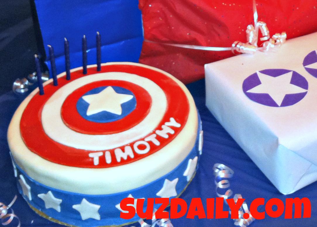 How To Make A Captain America Cake Suz Daily
