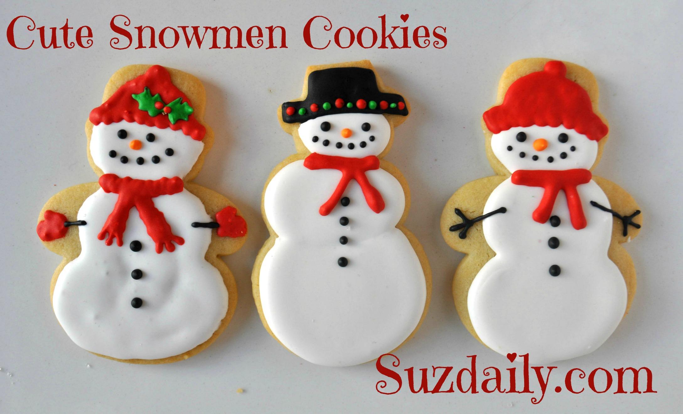Cute Snowmen Cookies Suz Daily