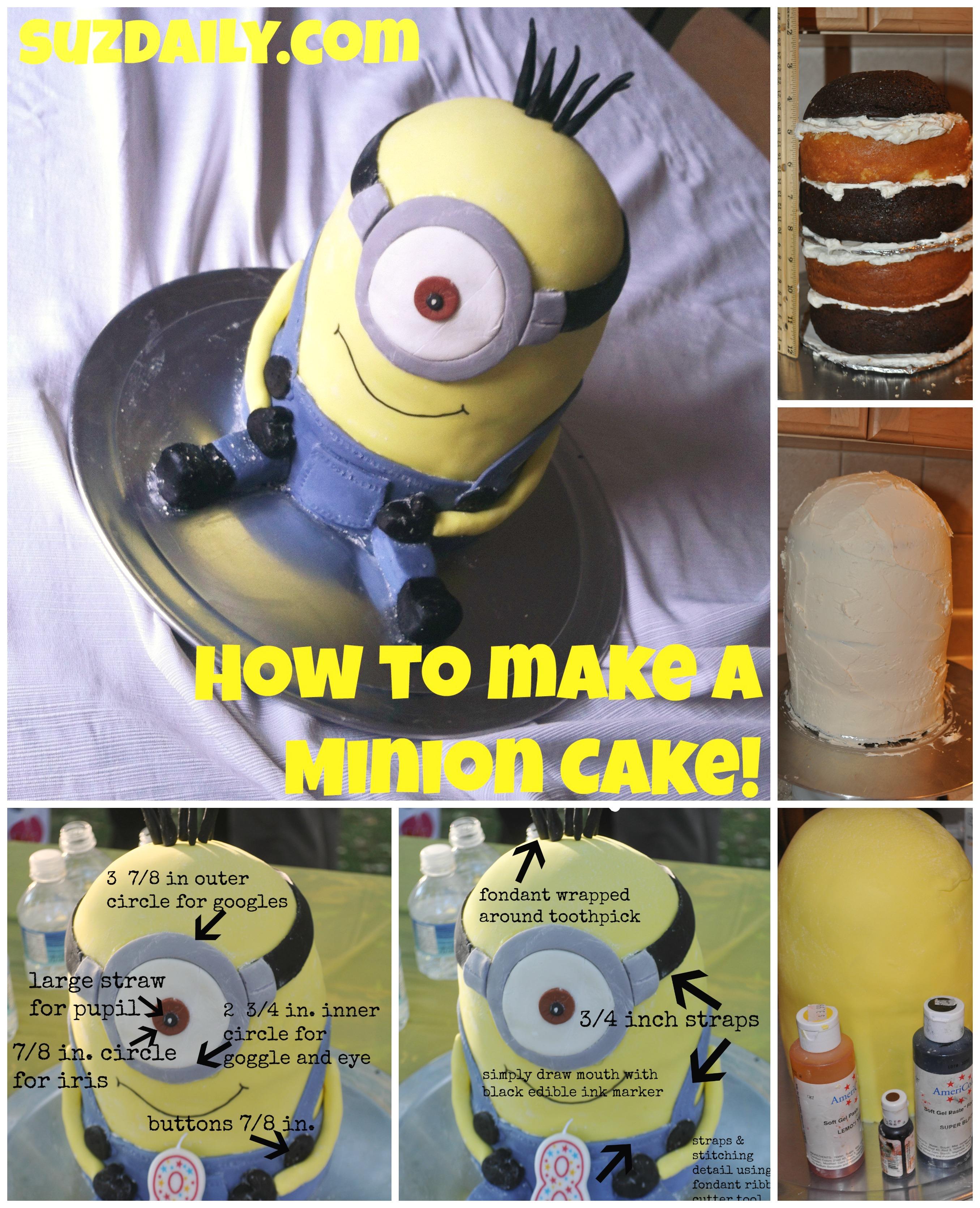 How To Make A Minion Cake Suz Daily