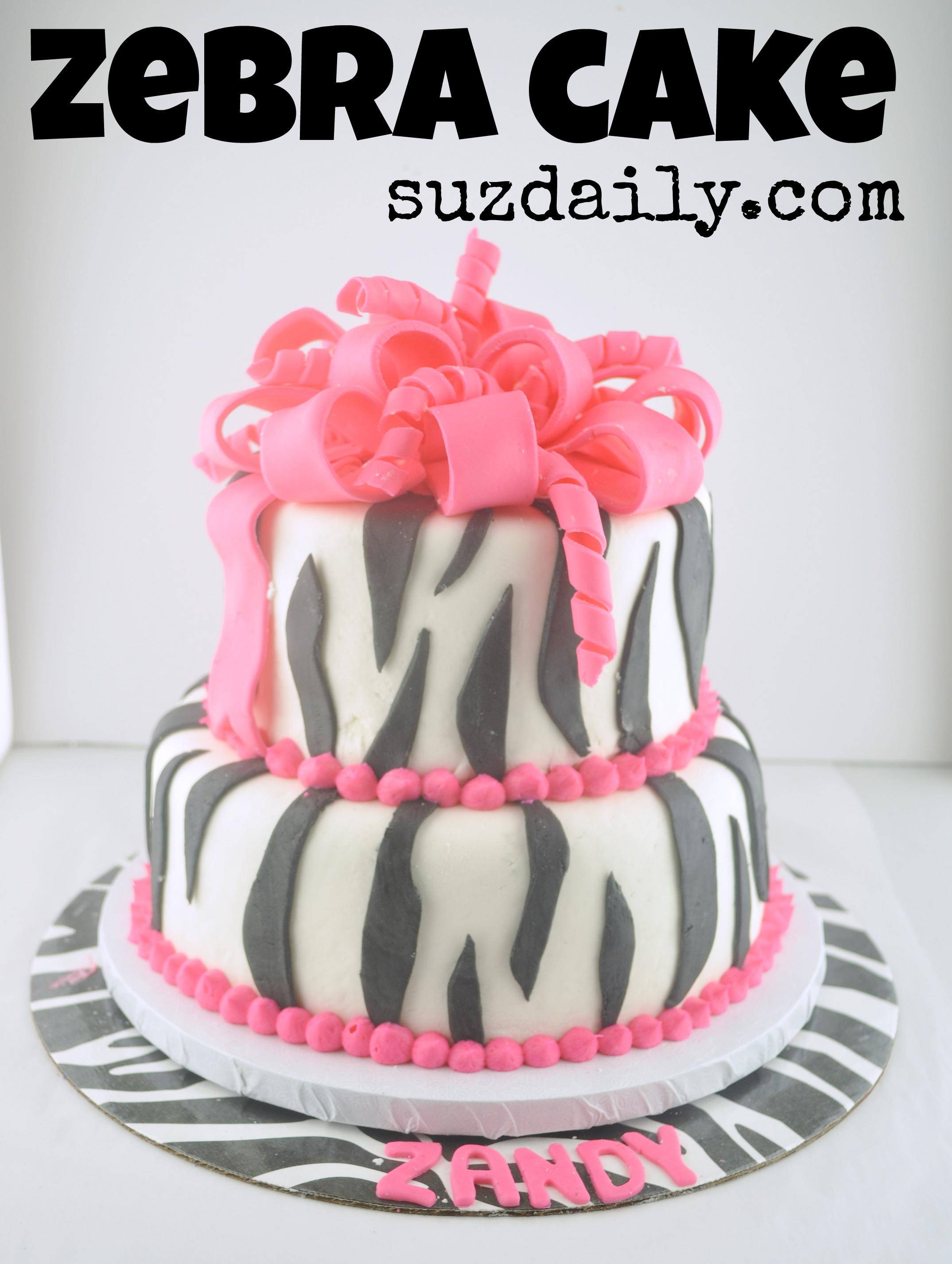 How To Make A Zebra Cake Suz Daily